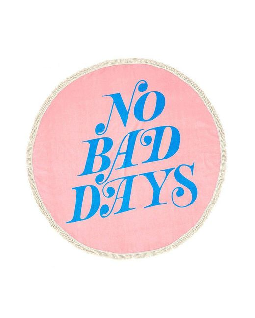 Ban.do Pink No Bad Days All Around Giant Circle Towel