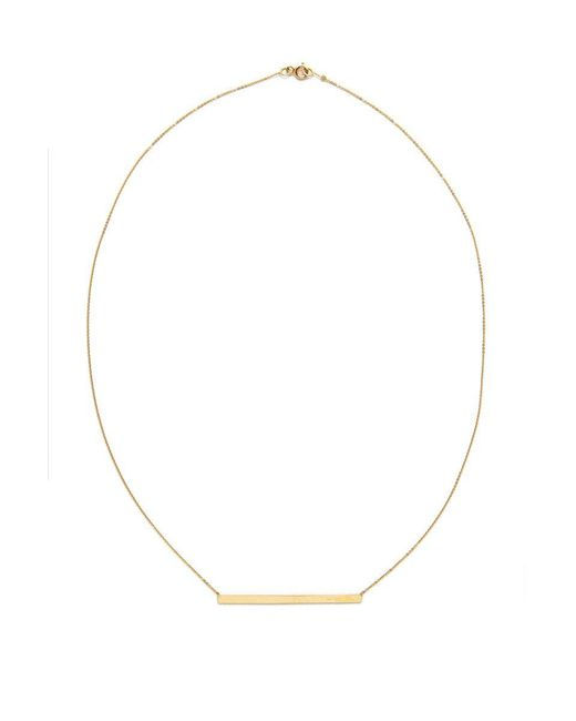 Talia Naomi | Metallic Finish Line Necklace | Lyst