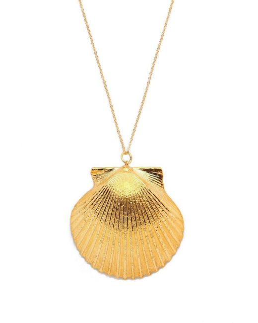 SEA DIPPED - Metallic Real Scallop Shell Necklace - Lyst