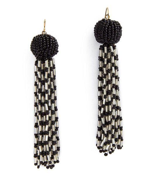 Vanessa Mooney Black The Antoinette Earrings