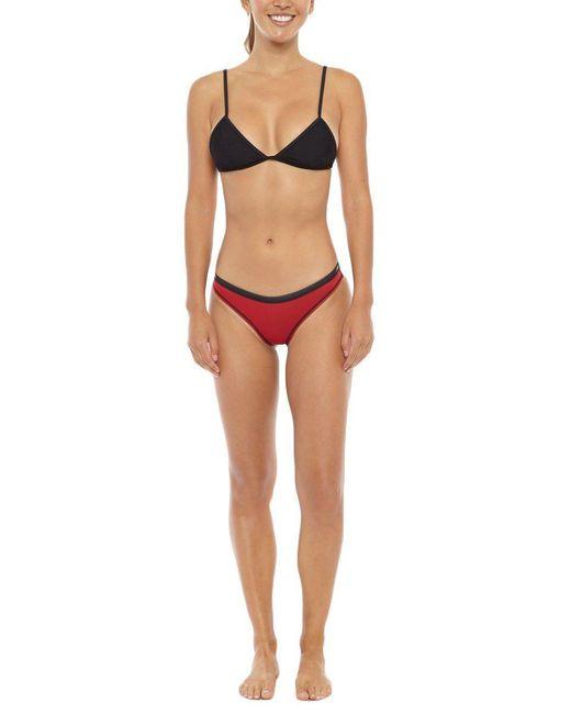 Beach Riot - Oye Adjustable Strap Bikini Top - Sassy Black - Lyst