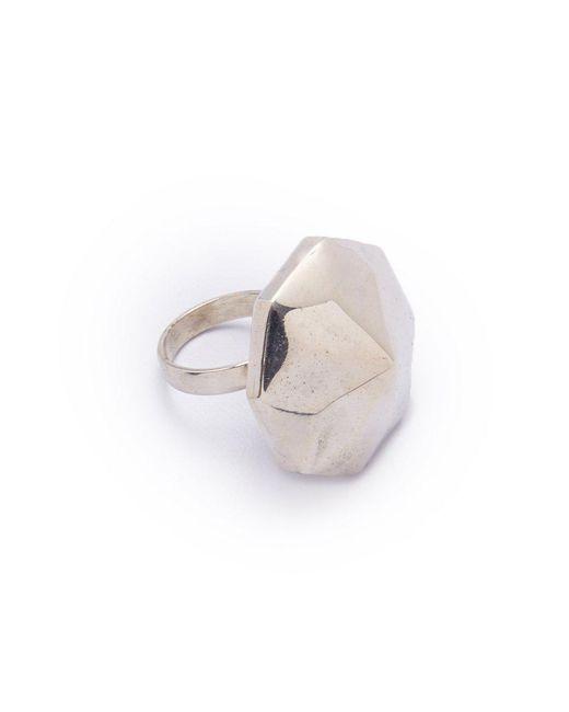 Lena Bernard - Metallic Danika Pyramid Statement Silver Ring - Lyst