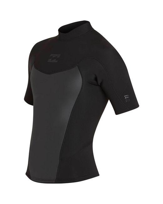 Billabong - Black 2/2 Absolute Comp Short Sleeve Jacket for Men - Lyst