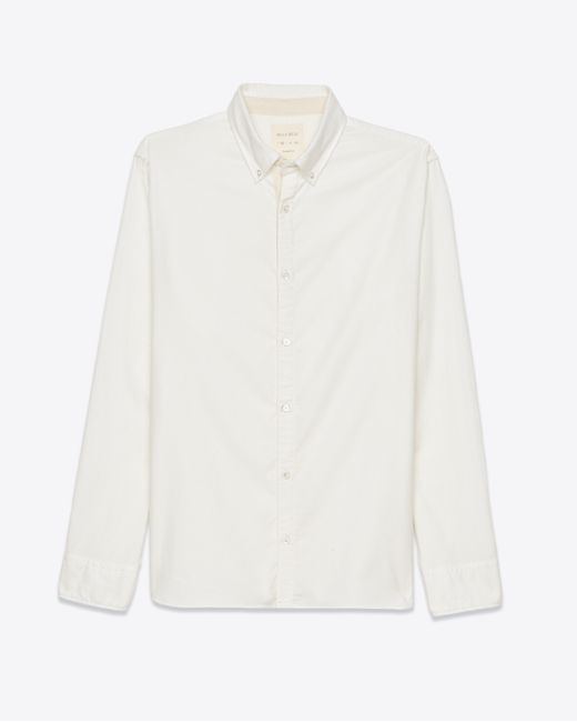 Billy reid brushed twill shirt in white for men lyst for Brushed cotton twill shirt