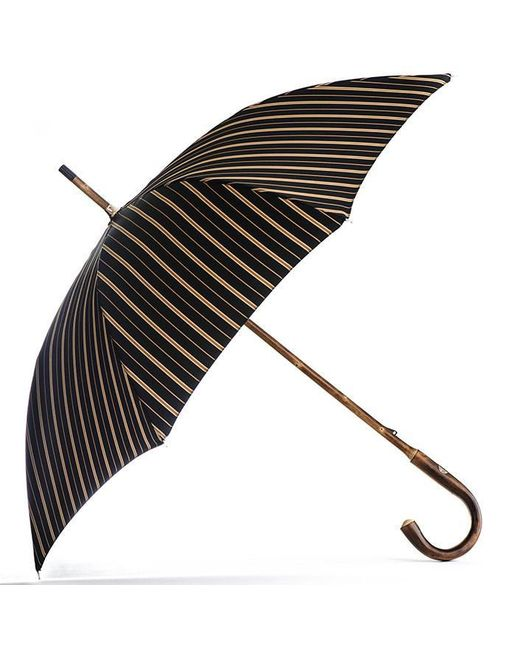 Black.co.uk | Multicolor Black And Sand Striped Luxury Umbrella | Lyst