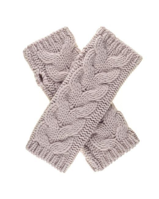 Black.co.uk - Multicolor Blush Thick Cable Cashmere Wrist Warmers - Lyst