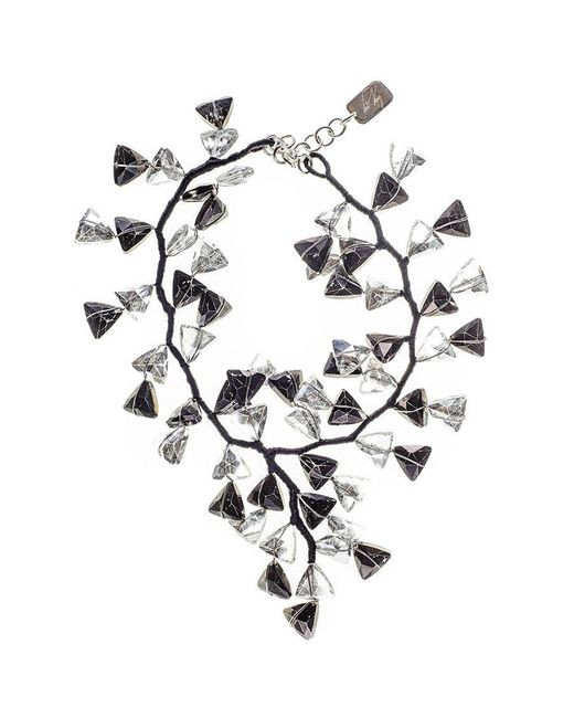 Black.co.uk - Multicolor Black And White Smokey Quartz Crystal Waterfall Necklace - Lyst