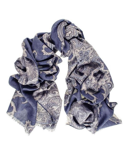 Black.co.uk - Multicolor Cellini Reversible Wool And Silk Scarf - Lyst
