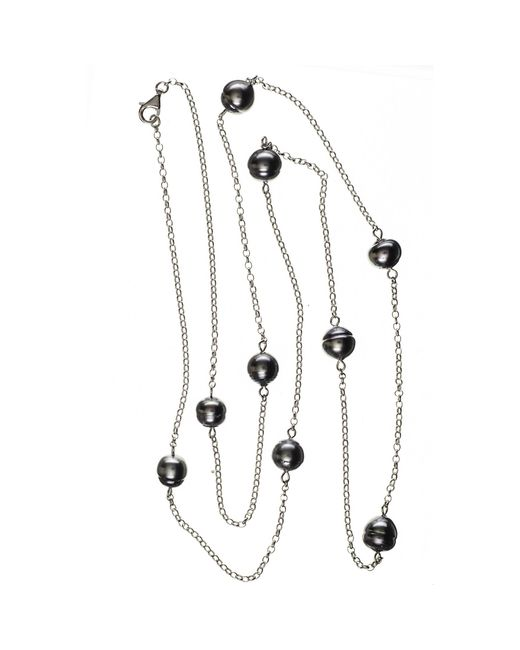 Black.co.uk   Multicolor Ophelia Tahitian Black Pearl Infinity Necklace   Lyst