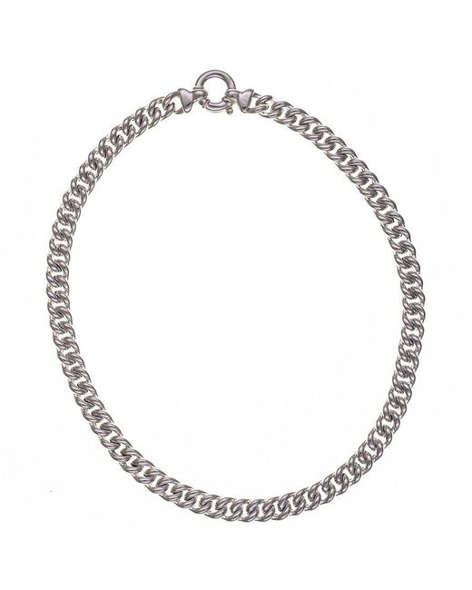 Black.co.uk - Metallic Curb Chain Sterling Silver Necklace - Lyst
