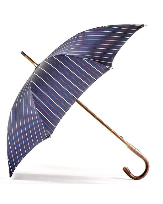 Black.co.uk - Blue Navy Red And White Stripe Luxury Umbrella - Lyst