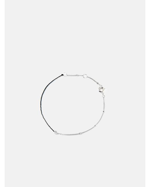 we11made - Metallic Half Chain Half Thread Bracelet - Lyst
