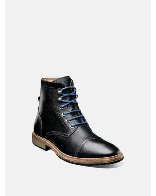Florsheim | Black Indie Cap Toe Boot for Men | Lyst