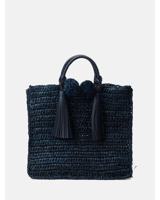 Loeffler Randall - Blue Straw Travel Tote - Lyst