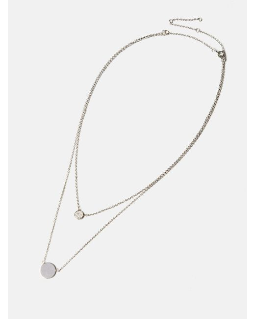 we11made | Metallic Double Round Necklace | Lyst