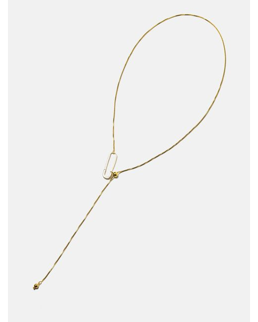 we11made | Metallic Safety Pin Length Adjustable Necklace | Lyst