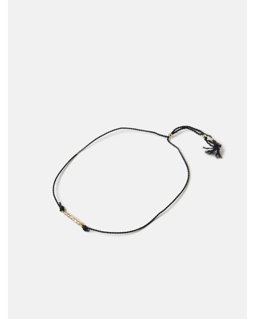 we11made   Metallic Stone Bar Thread Bracelet   Lyst