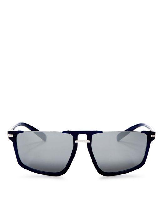 e0964cf78d0 Bloomingdale s - Blue Versace Men s Mirrored Flat Top Square Sunglasses