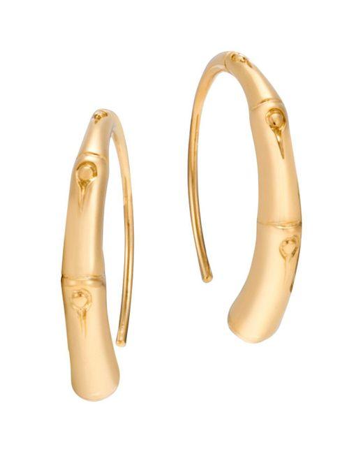 John Hardy - Metallic 18k Yellow Gold Bamboo Small Sweep Earrings - Lyst