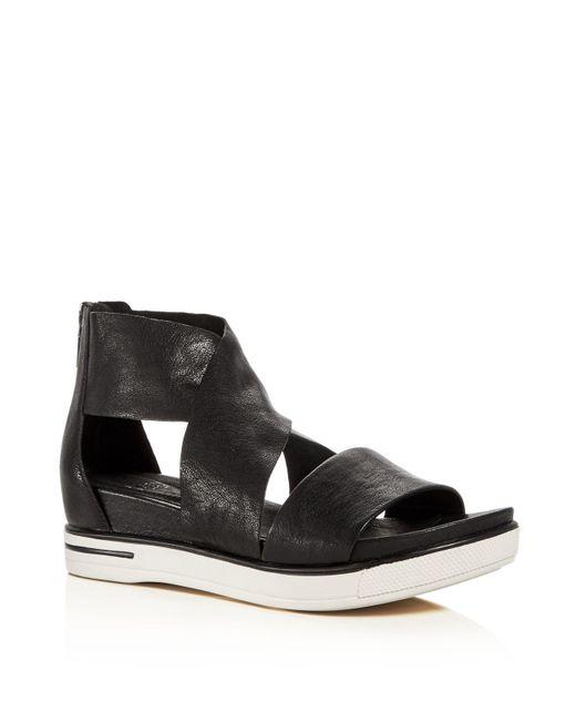 Eileen Fisher | Black Sport Open Toe Sandals | Lyst
