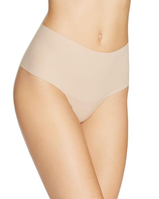 Hanky Panky - Brown Bare Godiva High-rise Thong - Lyst