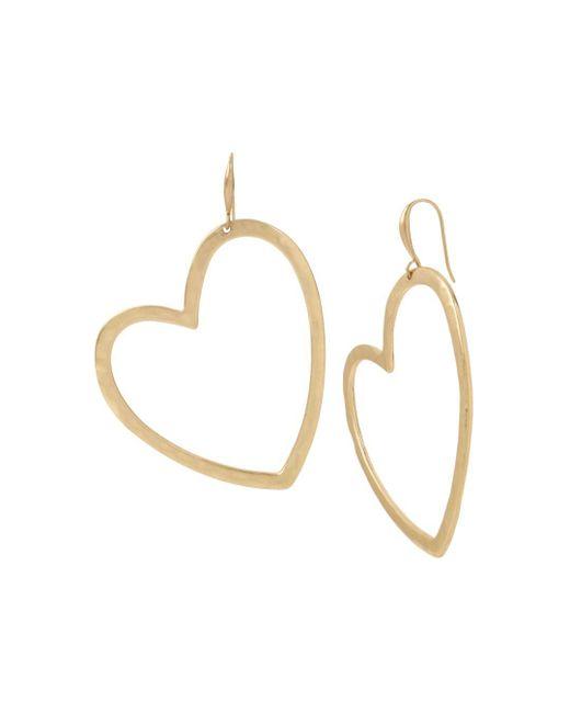 Robert Lee Morris - Metallic Heart Gypsy Drop Earrings - Lyst