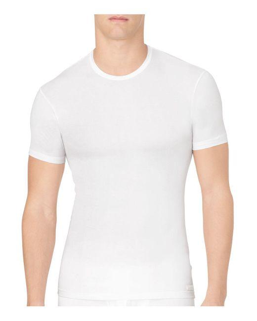 CALVIN KLEIN 205W39NYC - White Body Modal Crew Neck Tee for Men - Lyst