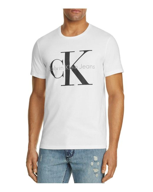 Calvin Klein | White Authentic Logo Tee for Men | Lyst