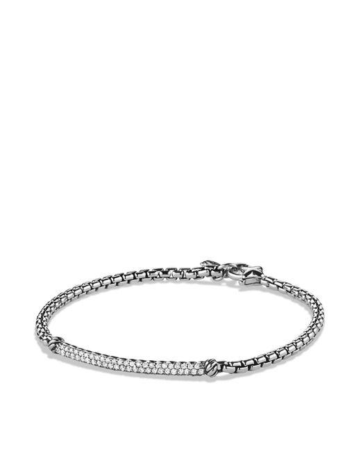 David Yurman | Metallic Petite Pavé Bar Metro Bracelet With Diamonds | Lyst
