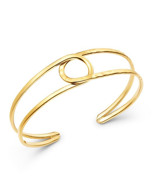 Bloomingdale's - Metallic 14k Yellow Gold Circle Cuff - Lyst