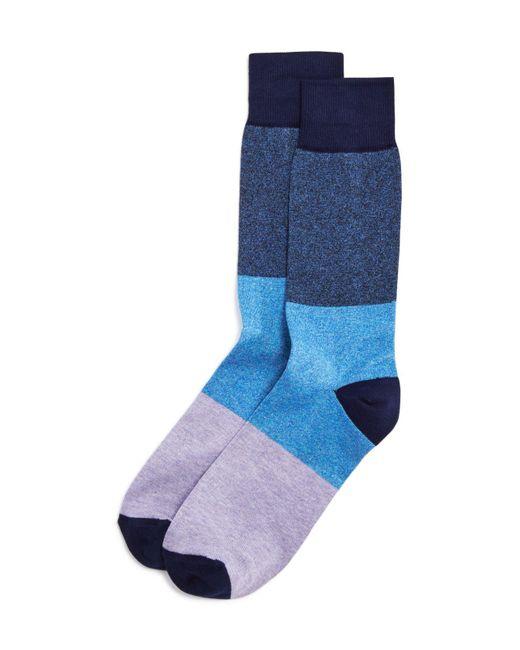 Paul Smith | Blue Mélange Block Socks for Men | Lyst