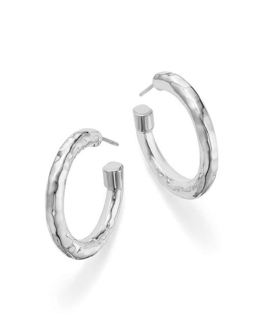 Ippolita - Metallic Sterling Silver Glamazon® Hoop Earrings - Lyst