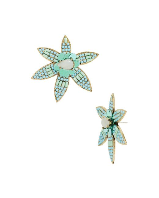 BaubleBar | Blue Starflower Drop Earrings | Lyst