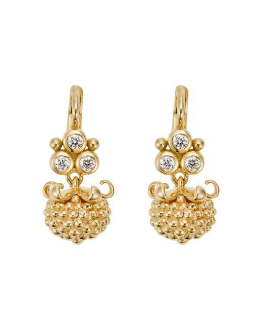 Temple St. Clair - Metallic 18k Yellow Gold Mini Pod Drop Earrings With Diamonds - Lyst