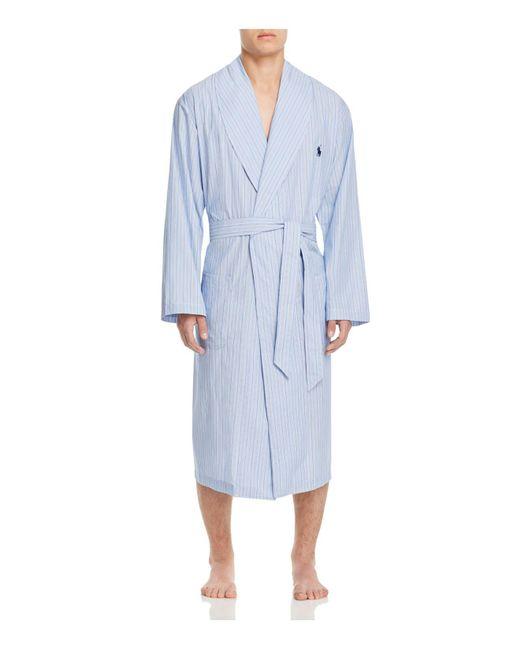 Polo Ralph Lauren - Blue Andrew Stripe Robe for Men - Lyst