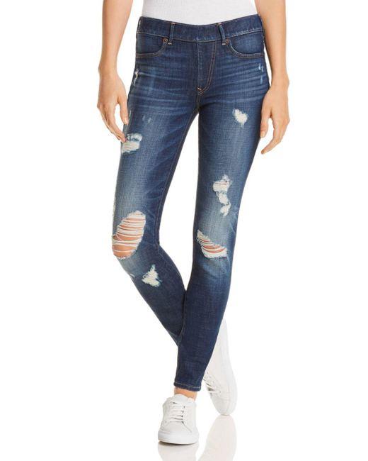 True Religion - Blue Jennie Runway Legging Jeans In Cloudy Sea - Lyst