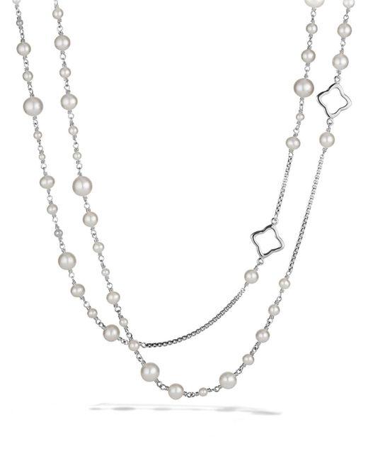 David Yurman - Metallic Pearl Chain Necklace - Lyst