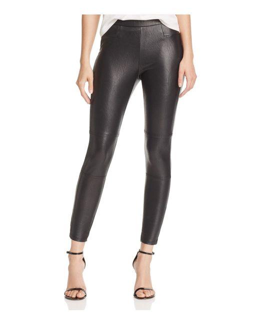 Ella Moss - Black Faux Leather Leggings - Lyst
