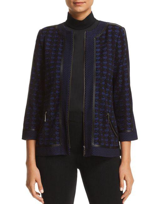 Misook - Black Lightweight Textured Knit Jacket - Lyst