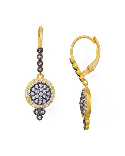 Freida Rothman | Metallic Mini Pavé Leverback Earrings | Lyst