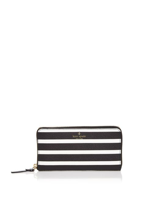 Kate Spade | Black Hyde Lane Michele Stripe Wallet | Lyst
