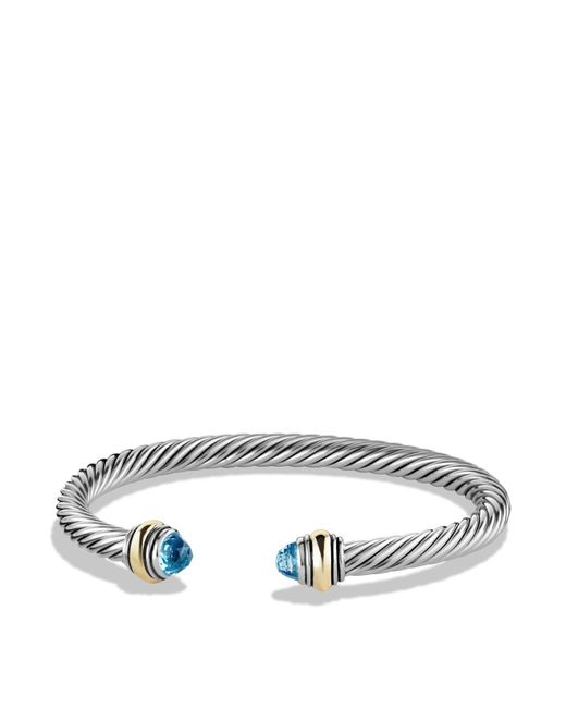 David Yurman | Cable Classics Bracelet With Blue Topaz And Gold | Lyst