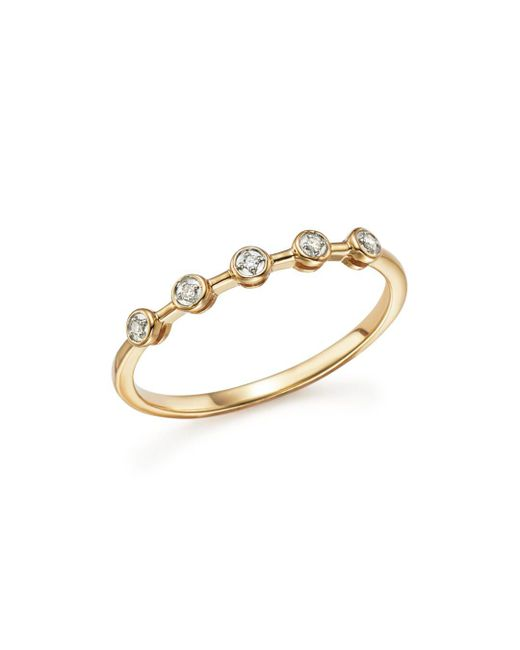 Adina Reyter - Metallic 14k Yellow Gold Five Bezel Diamond Ring - Lyst