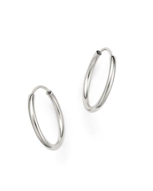 Bloomingdale's - Small Endless Hoop Earrings In 14k White Gold - Lyst