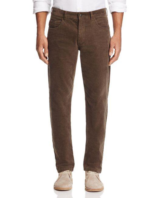 Bloomingdale's - Brown Corduroy Tailored Fit Pants for Men - Lyst