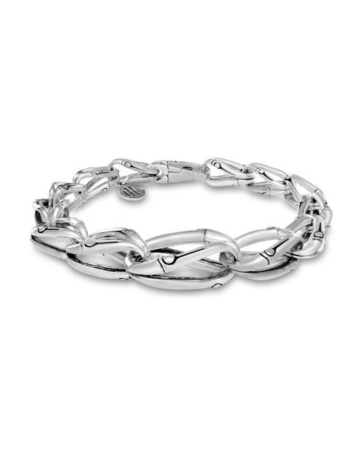 John Hardy - Metallic Sterling Silver Bamboo Graduated Link Bracelet - Lyst