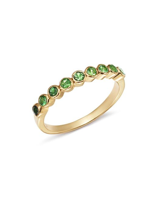 Shebee - Metallic 14k Yellow Gold Ombré Tsavorite Ring - Lyst