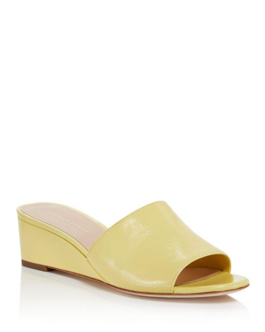 Loeffler Randall - Multicolor Women's Tilly Leather Demi Wedge Slide Sandals - Lyst