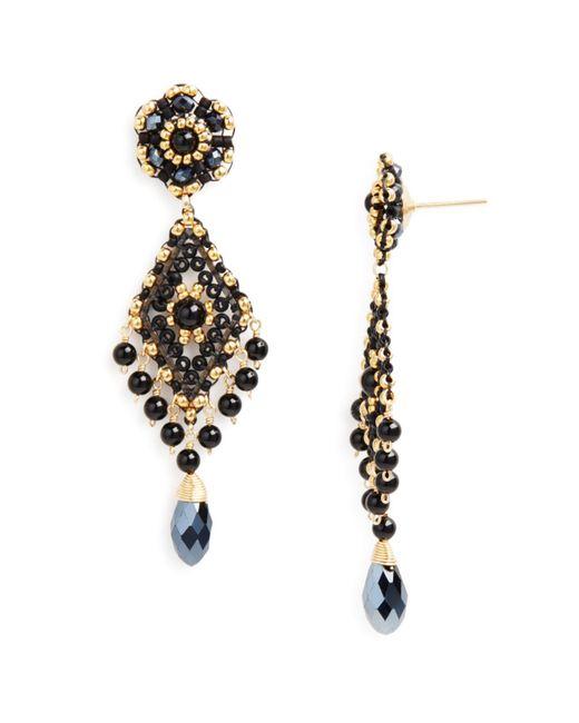 Miguel Ases | Metallic Beaded Earrings | Lyst