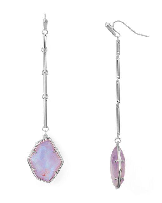 Kendra Scott - Multicolor Charmian Geometric Linear Drop Earrings - Lyst